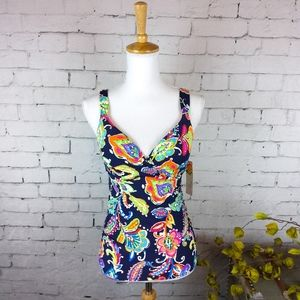 Other - NWT Anne Cole structured tankini swim top 34D/DD